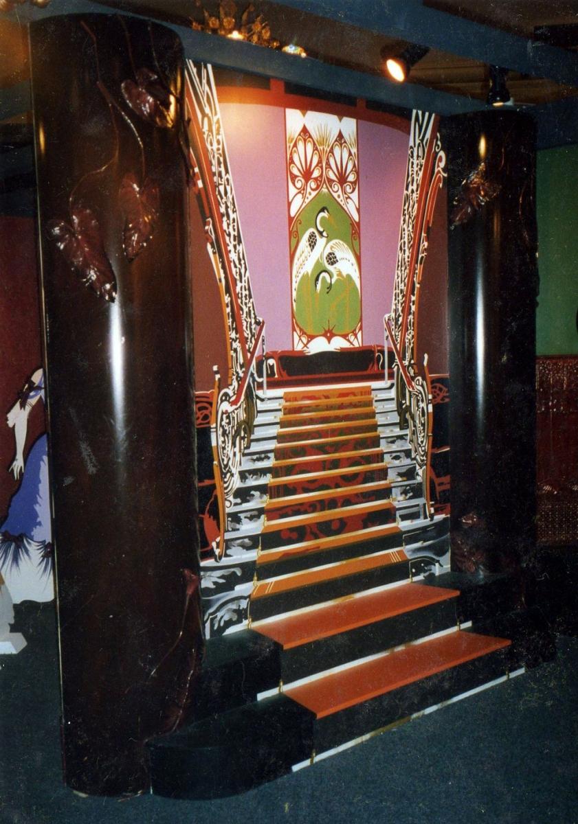 Trompe-l'oeil décor - Escalier Belle époque