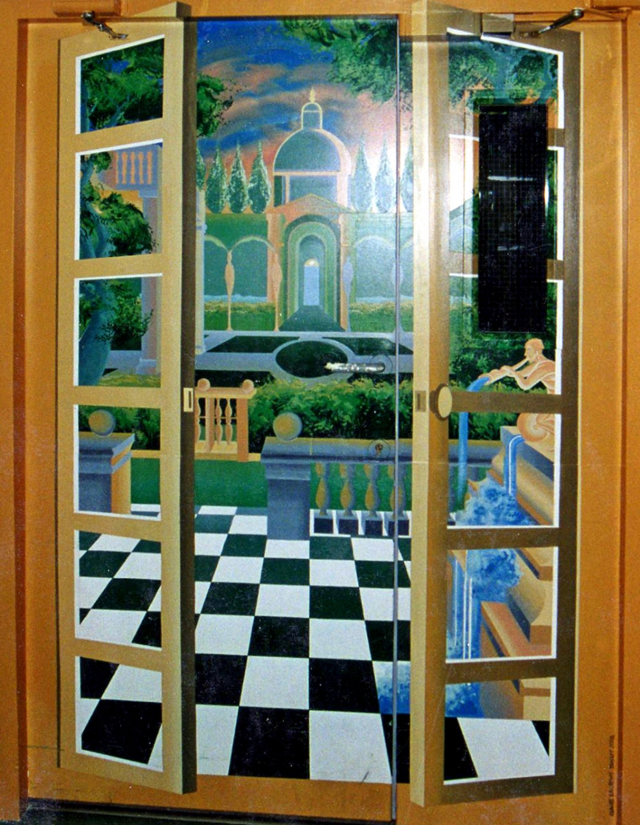 Porte trompe-l'oeil ( 2M10 X 1M70 ).