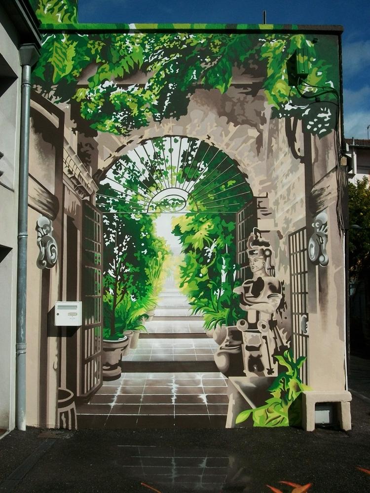 Façade Décor Trompe-l'oeil  - Lyon - Mars 2017