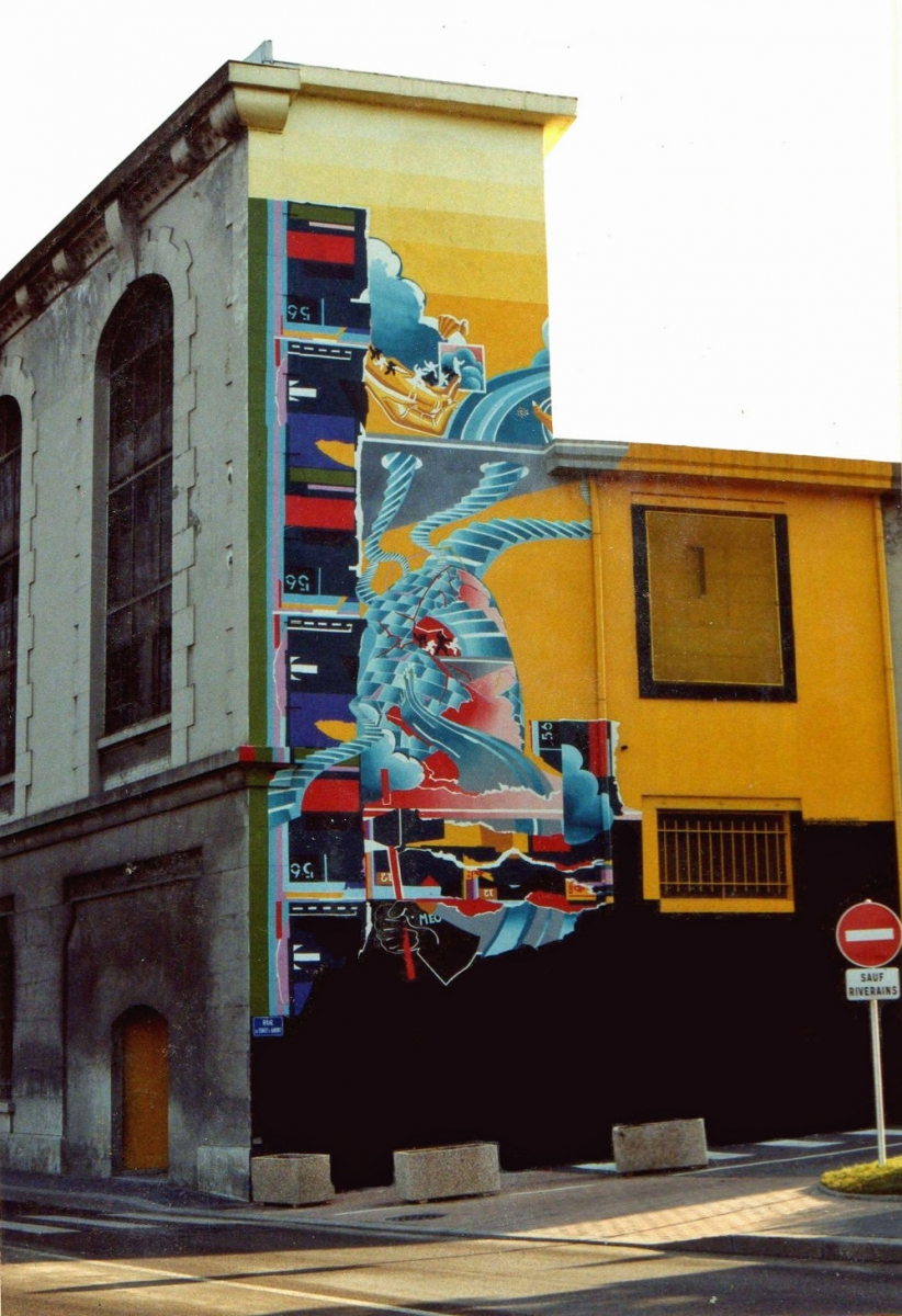 Fresque Papeteries Iridium 1988 - Cran-Gevrier (74)