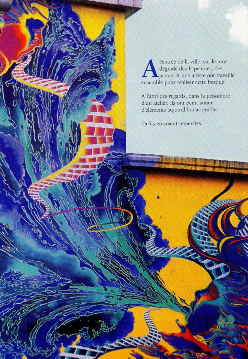 Fresque Papeteries Iridium 1996 - Cran-Gevrier (74)