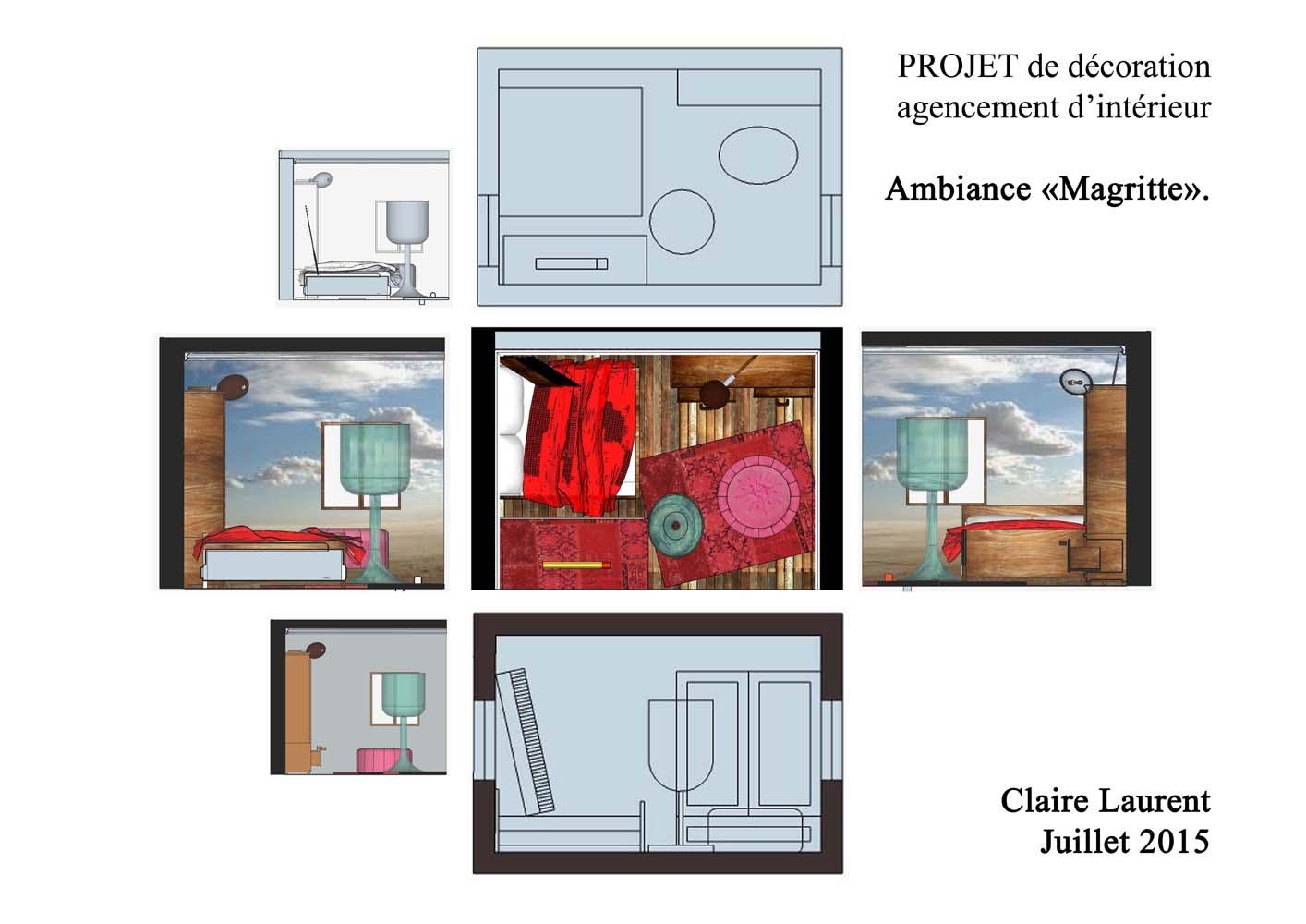 Projet Magritte 3D - Plans et coupes