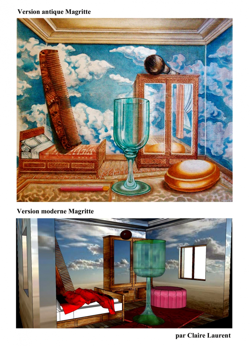 illustrations copies Magritte