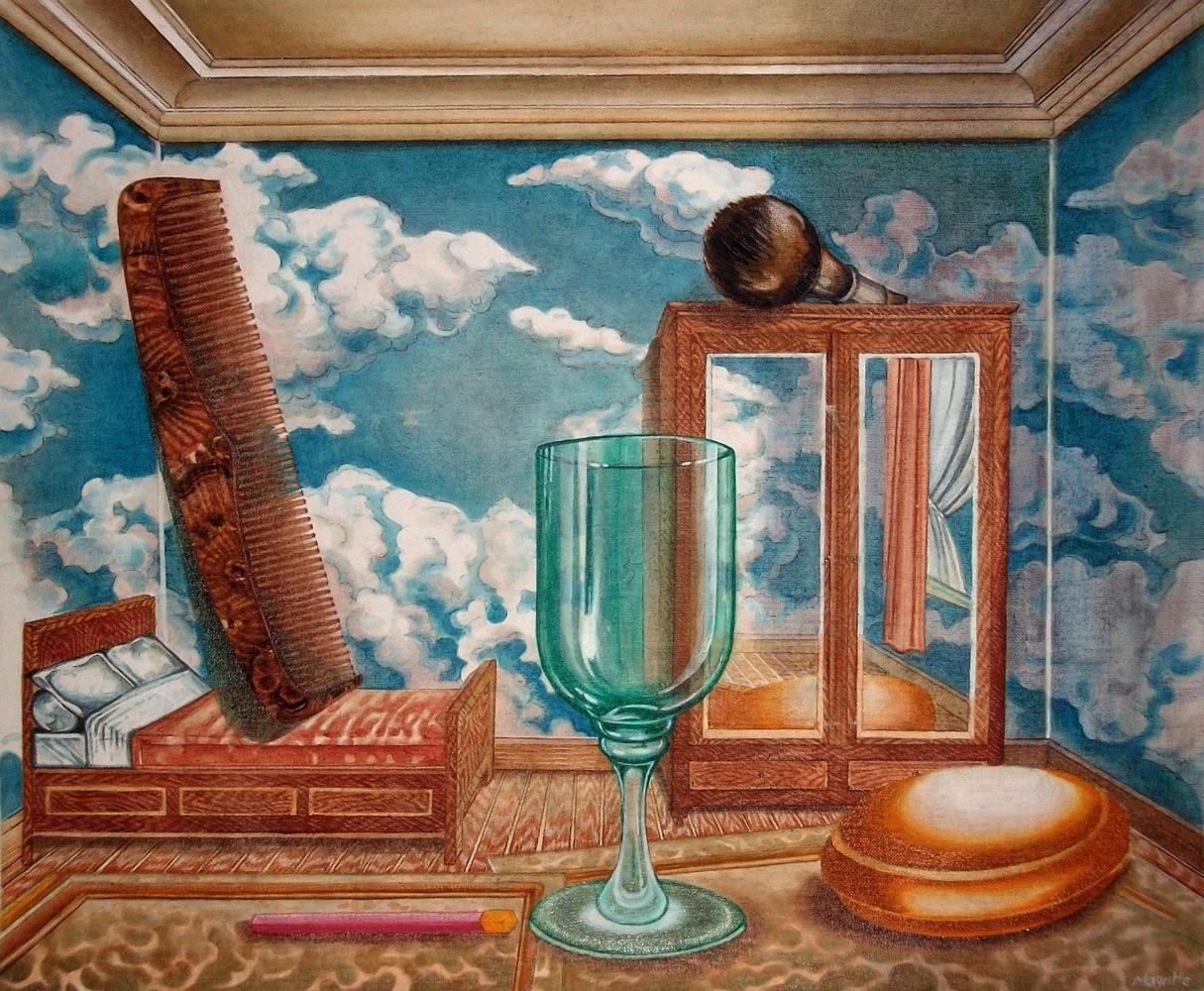 """copie """"Les valeurs personnelles"""" (1952) de  Magritte (1898- 1967) -"""" version originale"""""""