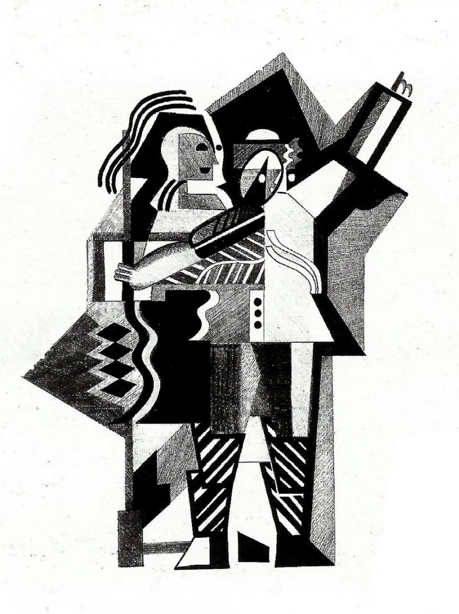 "dessin  pour  Magazine ""Relief"" - 1998"