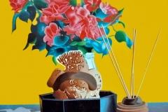 Nature morte Roses Incas